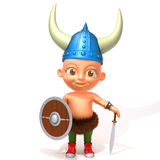 Baby Jake viking 3d illustration Stock Photo