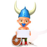 Baby Jake viking 3d illustration Stock Photos
