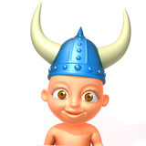 Baby Jake viking 3d illustration Royalty Free Stock Photos