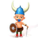 Baby Jake viking 3d illustration Royalty Free Stock Images