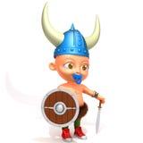 Baby Jake viking 3d illustration Stock Photos