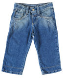 Baby jean. Children`s wear. Jeans isolated over white Royalty Free Stock Photography