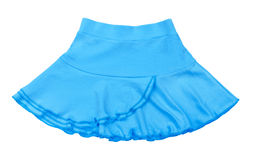 Baby jersey light blue skirt Stock Photos