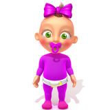 Baby Jessica 3d illustration Stock Images