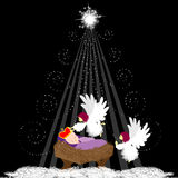 Baby Jesus with angel. Christmas background with baby Jesus and angel Stock Image