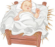 Baby Jesus Asleep Royalty Free Stock Image