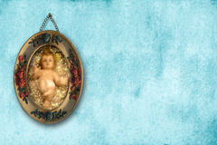 Baby Jesus Christmas background Stock Images