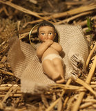 Baby Jesus Christmas Nativity Scene Royalty Free Stock Image