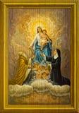 Baby Jesus en Maagdelijke Mary Stock Foto