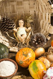 Baby Jesus figurine in country kitchen Royalty Free Stock Photos