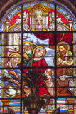 Baby Jesus John Mary Stained Glass Cathedral Granada Spain Royalty Free Stock Images