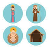 Baby jesus mary and joseph design Stock Photography