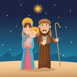 Baby jesus mary and joseph design Stock Images
