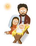Baby Jesus, Mary and Joseph Royalty Free Stock Photography