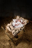 Baby Jesus op een Trog Royalty-vrije Stock Afbeeldingen