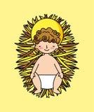 Baby Jesus in Trog vector illustratie