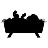 Baby Jesus. A vector illustration of a baby Jesus silhouette Royalty Free Stock Images