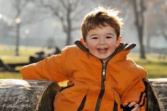 Baby Joy. Winter's Sunny Day. Baby Joy Royalty Free Stock Photography