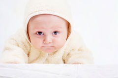 Baby in jumpsuit Stock Images