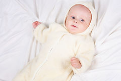 Baby in jumpsuit Stock Photos