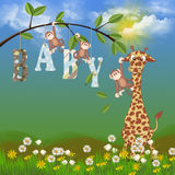 Baby jungle animals Royalty Free Stock Photos
