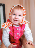 Baby in a kerchief Royalty Free Stock Photography