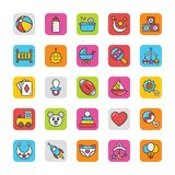 Baby and Kids  Colored Vector Icons 1 Royalty Free Stock Photos
