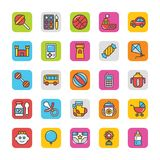 Baby and Kids  Colored Vector Icons 3 Stock Photo
