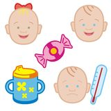 Baby and Kids' Icon Series Stock Image
