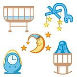 Baby and Kids' Icon Series Royalty Free Stock Photo