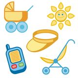 Baby and Kids' Icon Series Royalty Free Stock Image