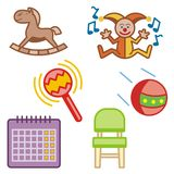 Baby and Kids' Icon Series Stock Photo