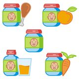 Baby and Kids' Icon Series stock illustration