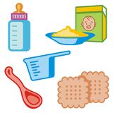 Baby and Kids' Icon Series Royalty Free Stock Photography
