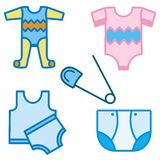 Baby and Kids' Icon Series Stock Photos