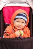 Baby in kinderwagen Stock Afbeelding