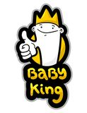 Baby king Royalty Free Stock Photos
