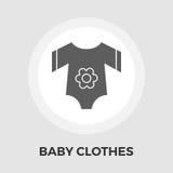 Baby kleidet flache Ikone Lizenzfreie Stockfotos