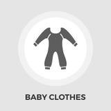 Baby kleidet flache Ikone Stockfoto