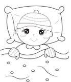 Baby kleurende pagina Stock Foto's