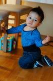 Baby on knees Stock Photos