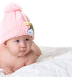 Baby in knitted hat Stock Photography