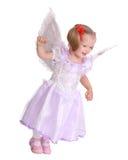 Baby in kostuum van engel. Royalty-vrije Stock Foto's
