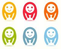 Baby-Lächeln Logo Template vektor abbildung