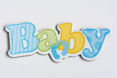 Baby label Stock Photography