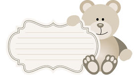 Baby Label Teddy Bear Stock Images