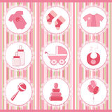 Baby labels. Design element Royalty Free Stock Images