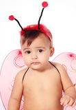 Baby and ladybug Stock Photos