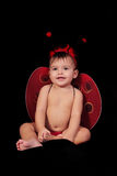 Baby and ladybug Royalty Free Stock Photo