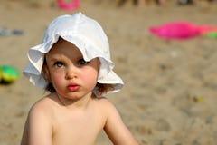 Baby at lake Stock Photos